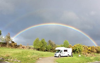 The Brough, caravan park in New Galloway